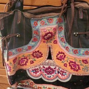 Boho arty handbag.